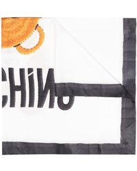 Moschino テディベア スカーフ - ホワイト