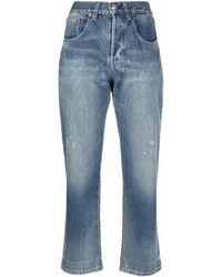 Victoria Beckham High-rise Cropped Jeans - Blue