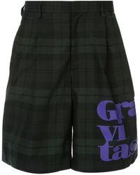 Kolor - Plaid Tailored Shorts - Lyst