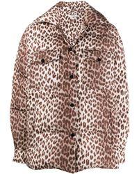 P.A.R.O.S.H. Leopard Print Puffer Jacket - Multicolour