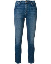 J Brand - Slim Fit Cropped Jeans - Lyst