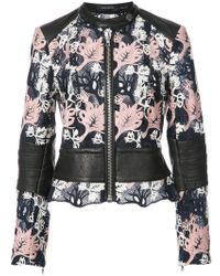Yigal Azrouël | Embroidered Moto Jacket | Lyst