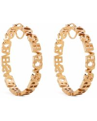 Versace Серьги-кольца С Логотипом - Металлик