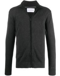 Calvin Klein Trui Met Rits - Zwart