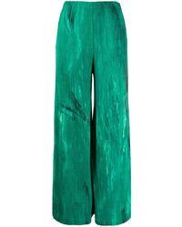 Avant Toi Textured Wide-leg Trousers - Green