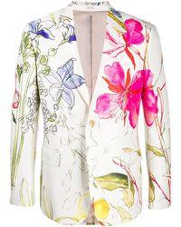 Alexander McQueen Пиджак С Цветочным Принтом - Многоцветный