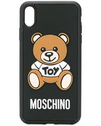 Moschino Coque Toy Teddy pour iPhone XS Max - Noir