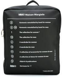 MM6 by Maison Martin Margiela プリント バックパック - ブラック