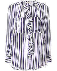 Dorothee Schumacher - Striped Ruffle Detail Blouse - Lyst