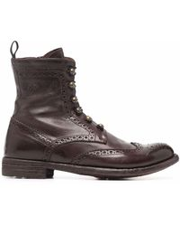 Officine Creative - Lexicon Perforated Lace-up Boots - Lyst