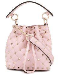 Valentino Garavani Valentino Garavani Small Rockstud Spike Bucket Bag - Pink