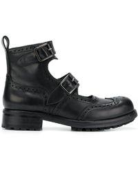 KTZ ダブルストラップ ブーツ - ブラック