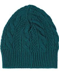 0dff72d7ead Moncler Cable Knit Beanie Hat in Gray for Men - Lyst