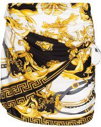 Versace - バロックプリント ミニスカート - Lyst