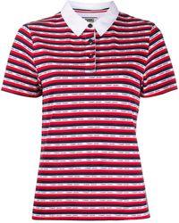 Tommy Hilfiger ストライプ ロゴ ポロシャツ - レッド