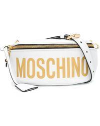 Moschino ロゴ ベルトバッグ - ホワイト