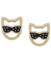 Karl Lagerfeld Серьги 'choupette Sunglasses' - Металлик