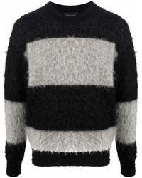 Roberto Collina ストライプ セーター - ブラック