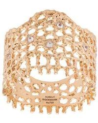 Aurelie Bidermann 18kt Yellow Gold & Diamond Lace Ring - Metallic