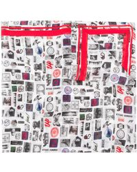 Paul Smith Summer Chills Print Scarf - White