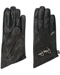 Philipp Plein Embroidered Logo Gloves - Metallic