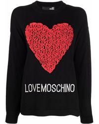 Love Moschino ハート プルオーバー - ブラック