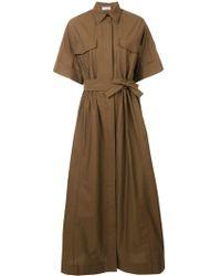 Brunello Cucinelli Длинное Платье-рубашка - Многоцветный