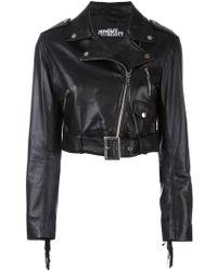 Jeremy Scott - Cropped Biker Jacket - Lyst
