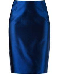 Martha Medeiros - High Waist Pencil Skirt - Lyst