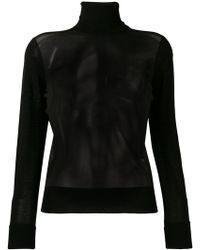 Neil Barrett - Sheer Front Sweater - Lyst