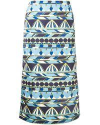 La DoubleJ Printed Radzmir Skirt - Синий