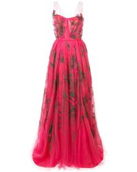 Carolina Herrera - Embroidered Tulle Gown - Lyst