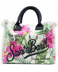 Mc2 Saint Barth Strandtasche mit Print - Grün