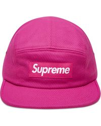 Supreme Cavalry Twill Camp Cap - Pink
