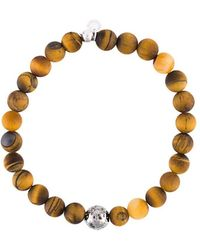 Tateossian Armband mit Perlen - Braun