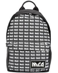 McQ プリント バックパック - ブラック