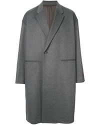 Undercover Rose Embroidered Coat - Gray