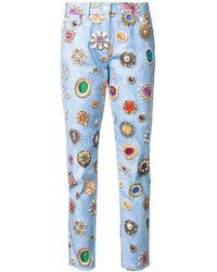 Moschino | Jewel Print Slim Fit Jeans | Lyst
