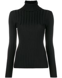 Aspesi リブニット セーター - ブラック