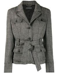 Alberta Ferretti Belted Safari Jacket - Grey