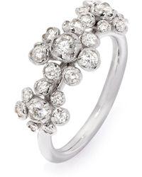 Annoushka Marguerite ダイヤモンド リング 18kホワイトゴールド