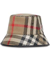 Burberry Плетеная Панама В Клетку Vintage Check - Многоцветный