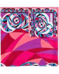 Emilio Pucci Abstract Print Scarf - Multicolour