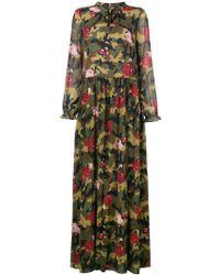 Cheap Sale Latest Collections Twin-Set floral camo maxi dress Cheap Sale Footlocker Finishline Best fsAaO1K