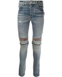 Amiri Skinny-Jeans mit hohem Bund - Blau