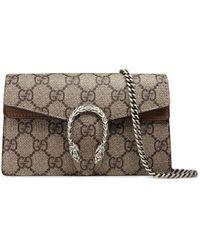 Gucci Dionysus GG Supreme Mini Chain Shoulder Bag - Multicolour