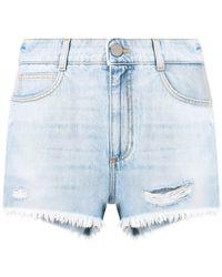 Stella McCartney Short en jean - Bleu