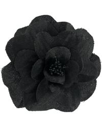 Philosophy Di Lorenzo Serafini Floral Embroidered Brooch - Black