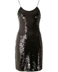 Armani Exchange Sequin-embellished Mini Dress - Black