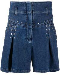 Alberta Ferretti High-rise Denim Shorts - Blue